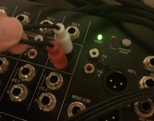 mixer phantom power